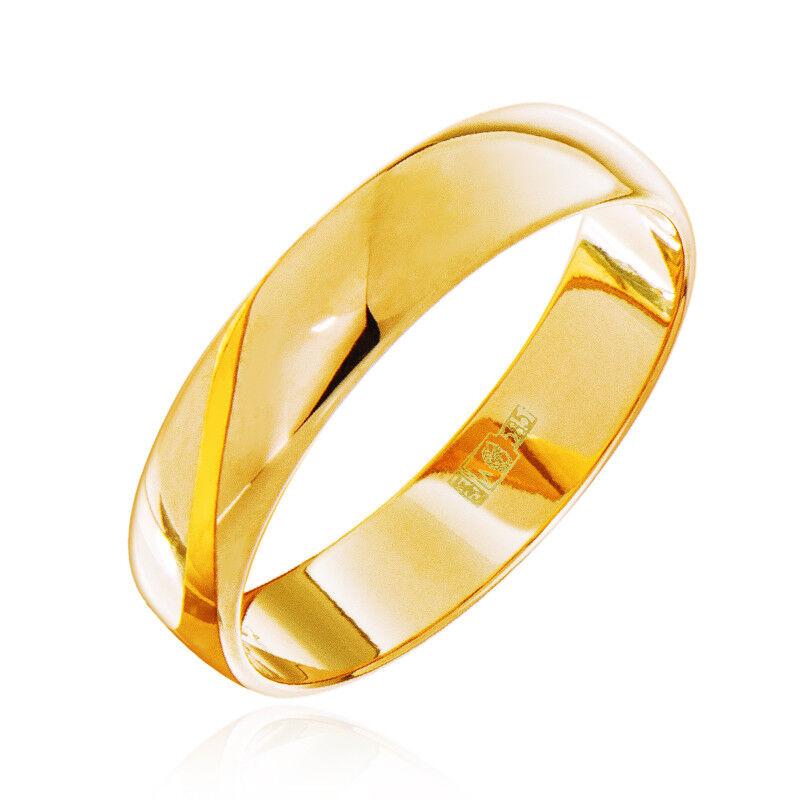 Ювелирный салон Jeweller Karat Кольцо обручальное золотое ширина 4 мм арт. 1131801 - фото 1