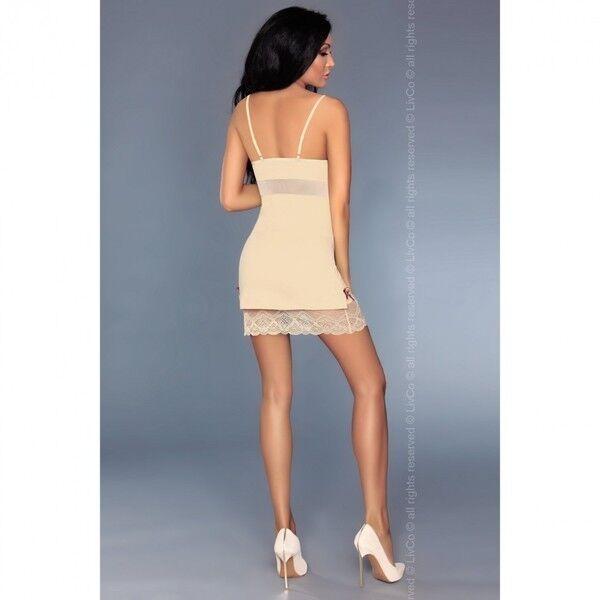 Интим-магазин Livia Corsetti Роскошная кремовая сорочка Lourdes L/XL арт. 90244L/XL - фото 2