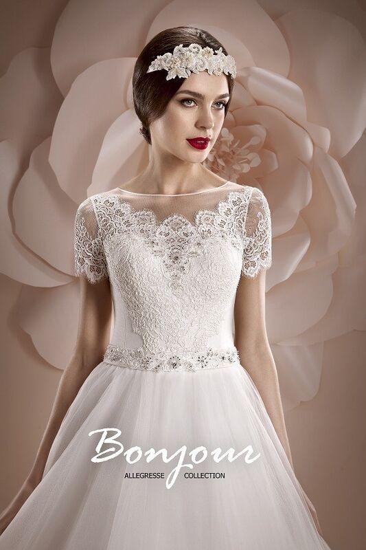 Свадебное платье напрокат Bonjour Платье свадебное «Oris» из коллекции ALLEGRESSE 2017 - фото 5