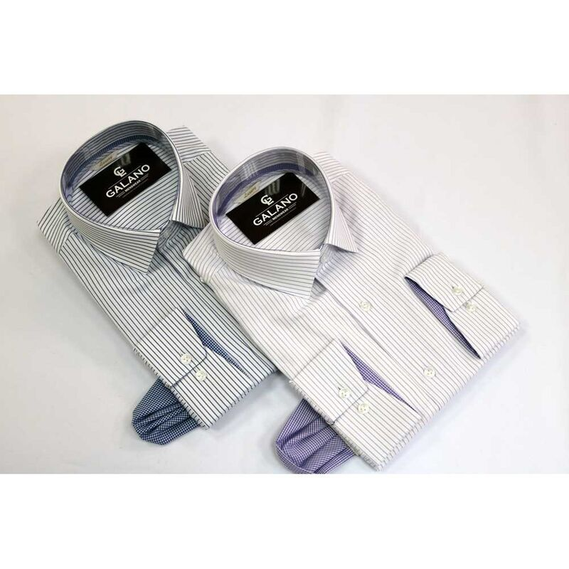 Кофта, рубашка, футболка мужская Galano Рубашка в полоску - фото 1