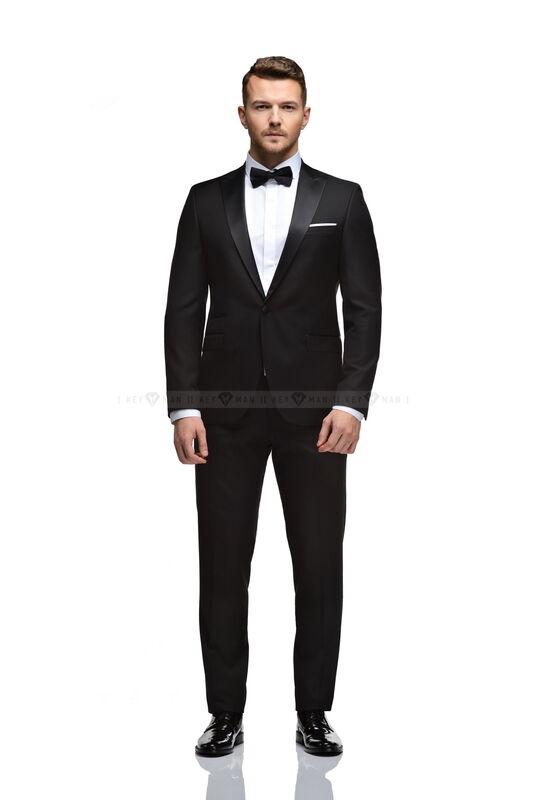 Костюм мужской Keyman Костюм мужской смокинг черный c итальянским лацканом NEW - фото 2