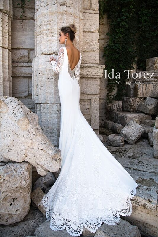 Свадебное платье напрокат Ida Torez Платье свадебное Rosie - фото 2