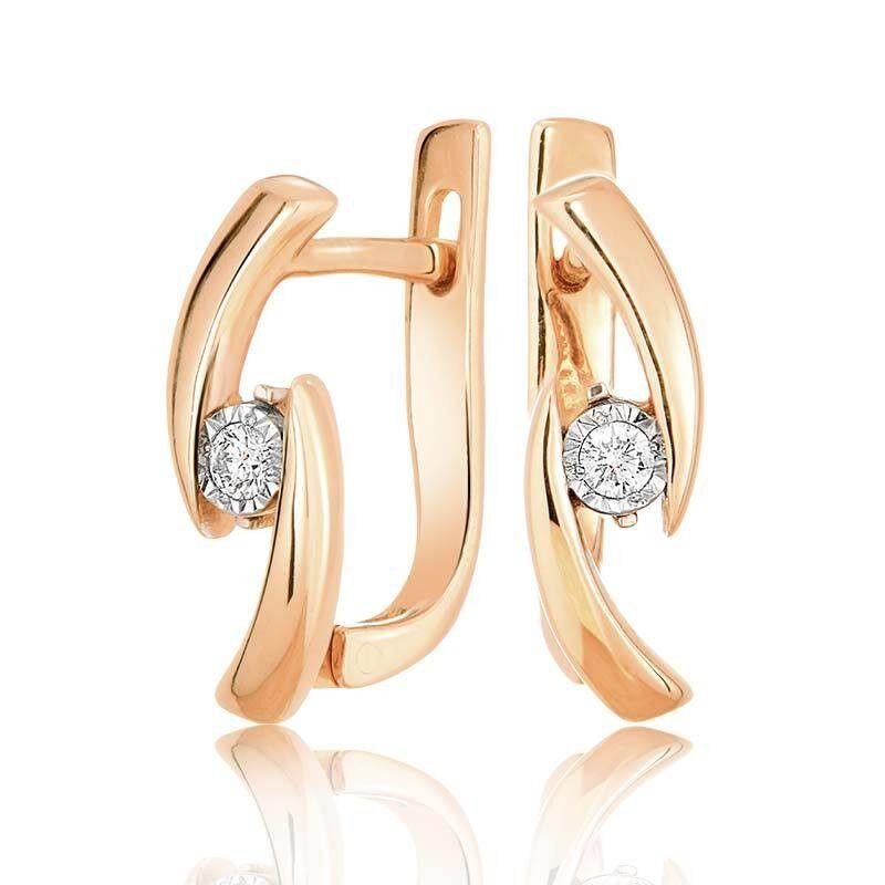 Ювелирный салон Jeweller Karat Серьги золотые с бриллиантами арт. 3223084/9 - фото 1