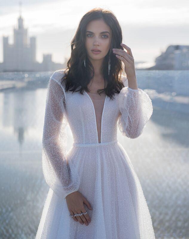 Свадебное платье напрокат Natalia Romanova Свадебное платье  Mone - фото 3