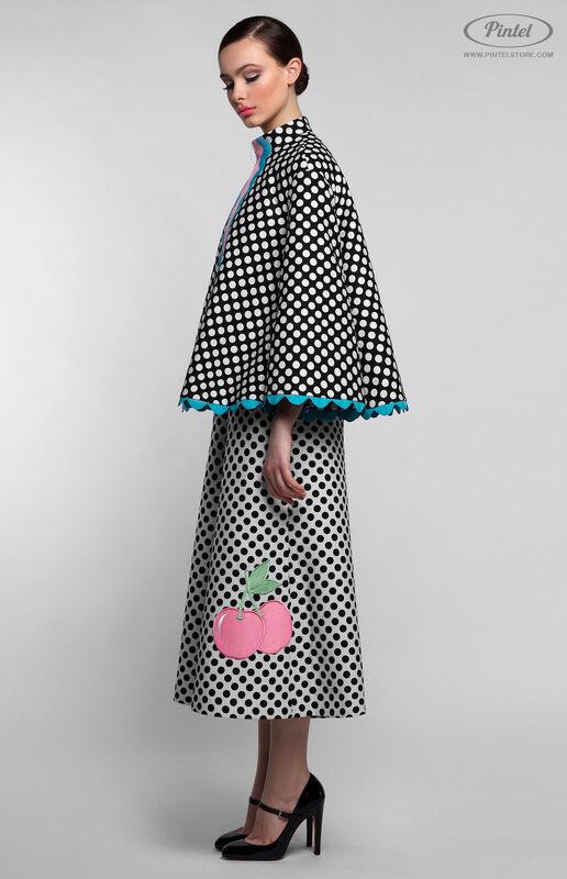 Костюм женский Pintel™ Комбинированный чёрно-белый инверсный костюм Stemaroön - фото 2