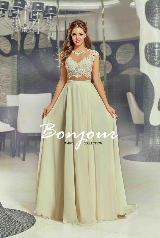 Свадебное платье напрокат Bonjour Платье свадебное «Lesli» из коллекции LAMBRE 2017 - фото 1