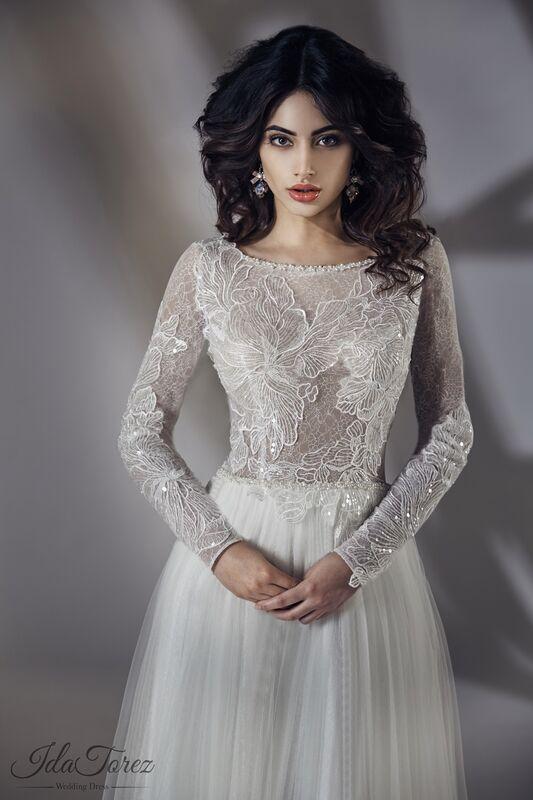 Свадебное платье напрокат Ida Torez Свадебное платье Estena - фото 2