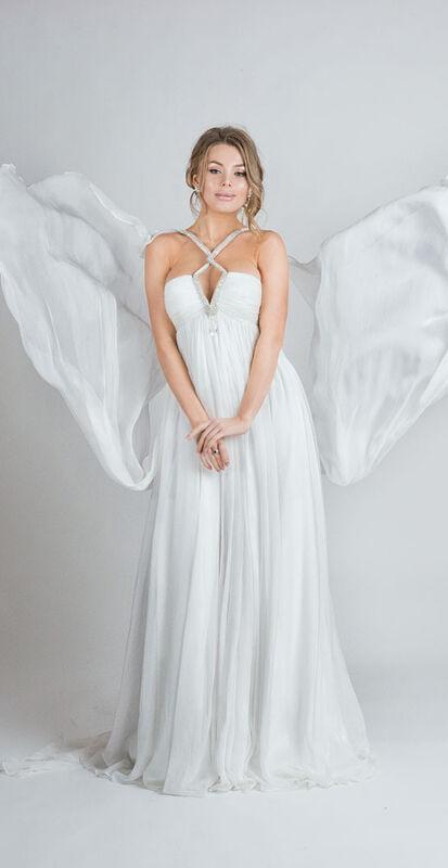 Свадебное платье напрокат Yusupova Couture Свадебное платье в греческом стиле, со змейкой - фото 1