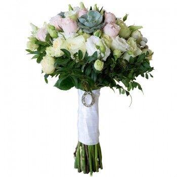 Магазин цветов Ветка сакуры Свадебный букет № 122 - фото 1