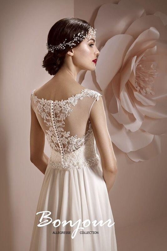 Свадебное платье напрокат Bonjour Платье свадебное «Maura» из коллекции ALLEGRESSE 2017 - фото 3