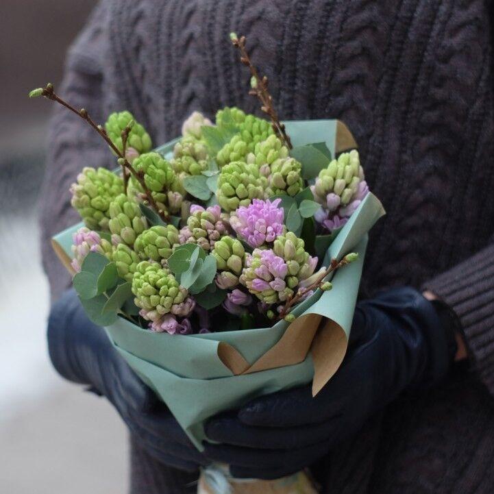 Магазин цветов VETKA-KVETKA Монобукет из гиацинтов 209 - фото 1