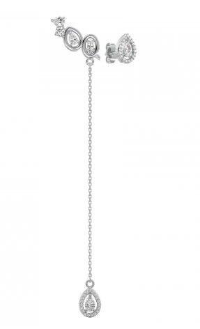 Ювелирный салон ZORKA Серьги из серебра с фианитами 0310307 - фото 1