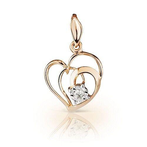 Ювелирный салон Jeweller Karat Подвеска золотая с бриллиантами арт. 3234418/9 - фото 1
