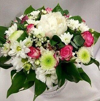 Магазин цветов Цветочник Коробка с пионом - фото 1