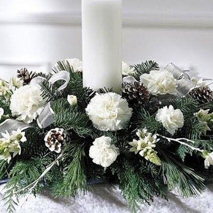Магазин цветов Долина цветов Новогодняя композиция - фото 1