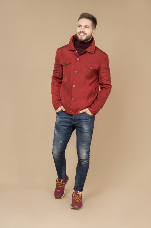 Верхняя одежда мужская Etelier Куртка мужская плащевая утепленная 4М-8530-1 - фото 1