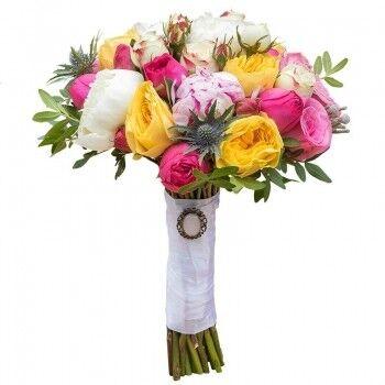 Магазин цветов Ветка сакуры Свадебный букет № 99 - фото 1