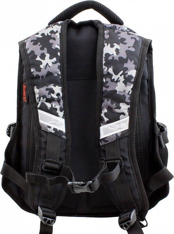 Магазин сумок Winner Рюкзак школьный черный 921 - фото 3