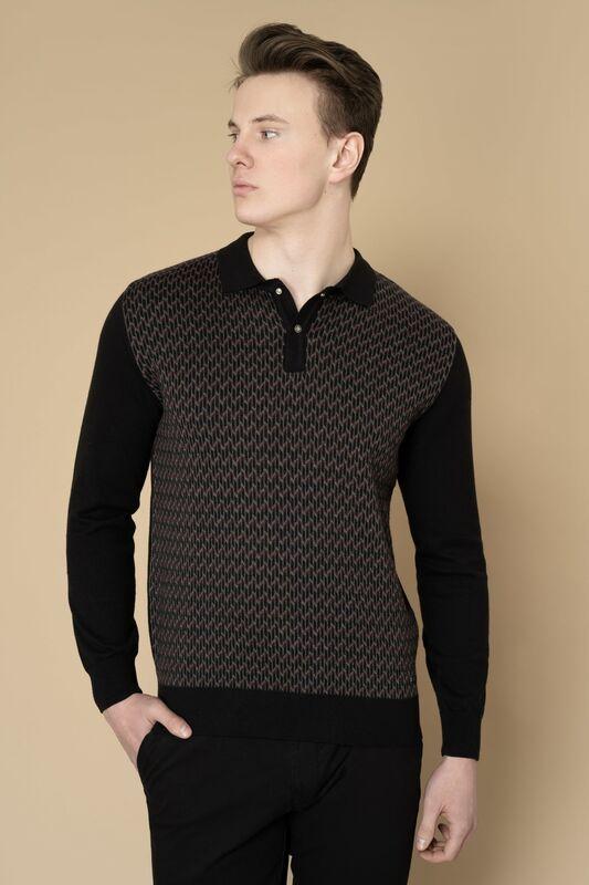 Кофта, рубашка, футболка мужская Etelier Джемпер мужской  tony montana 211395 - фото 9