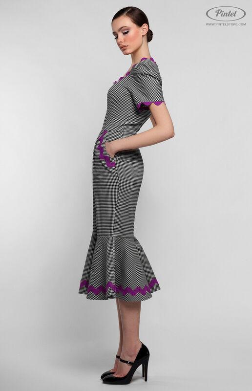 Платье женское Pintel™ Приталенное миди-платье Gaga - фото 3