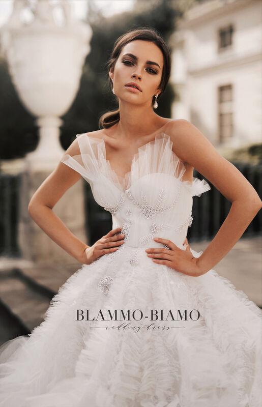 Свадебное платье напрокат Blammo-Biamo Платье свадебное The Rice Asta - фото 6