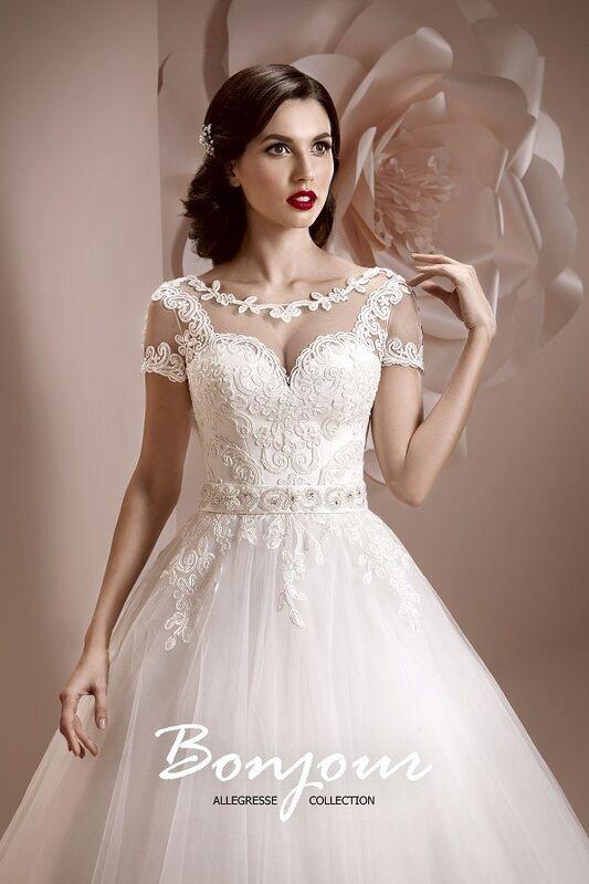 Свадебное платье напрокат Bonjour Платье свадебное «Lorena» из коллекции ALLEGRESSE 2017 - фото 3