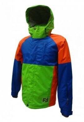 Спортивная одежда Free Flight Мужская мембранная горнолыжная куртка синя-салатовая - фото 1
