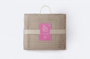 Подарок Ecotex Декоративный флисовый плед 150х200 Bali Песочный - фото 2