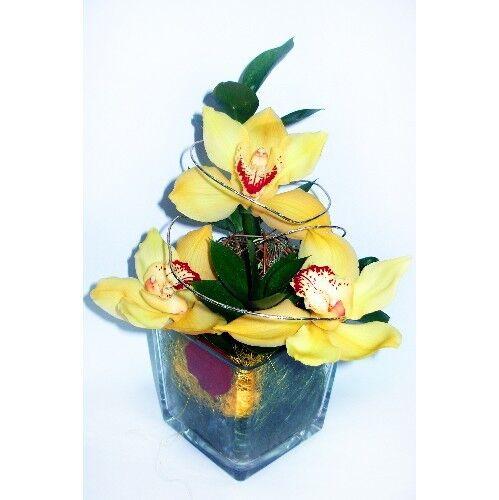 Магазин цветов Планета цветов Цветочная композиция в стекле №5 - фото 1
