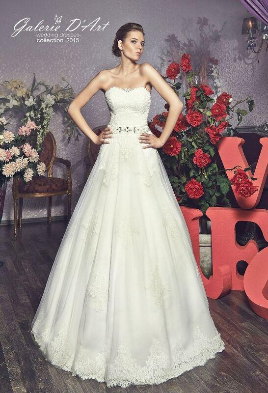 Свадебное платье напрокат Galerie d'Art Платье свадебное «Vual» - фото 1