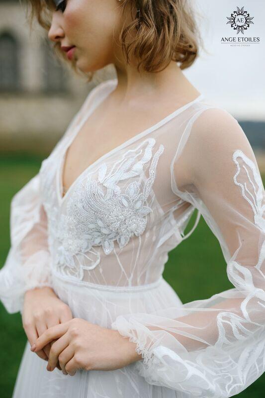 Свадебное платье напрокат Ange Etoiles Платье свадебное AEriality Collection  Luna - фото 2