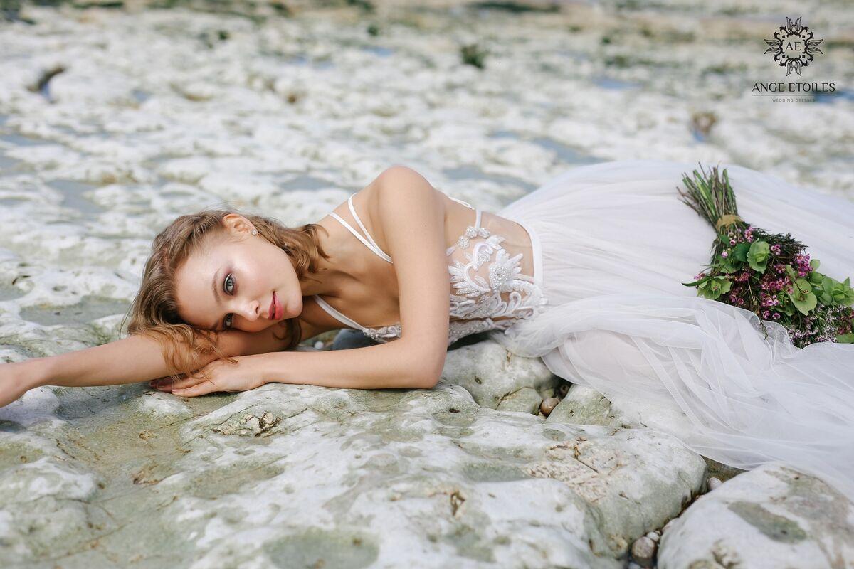 Свадебный салон Ange Etoiles Свадебное платье AEriality Collection Tea - фото 5