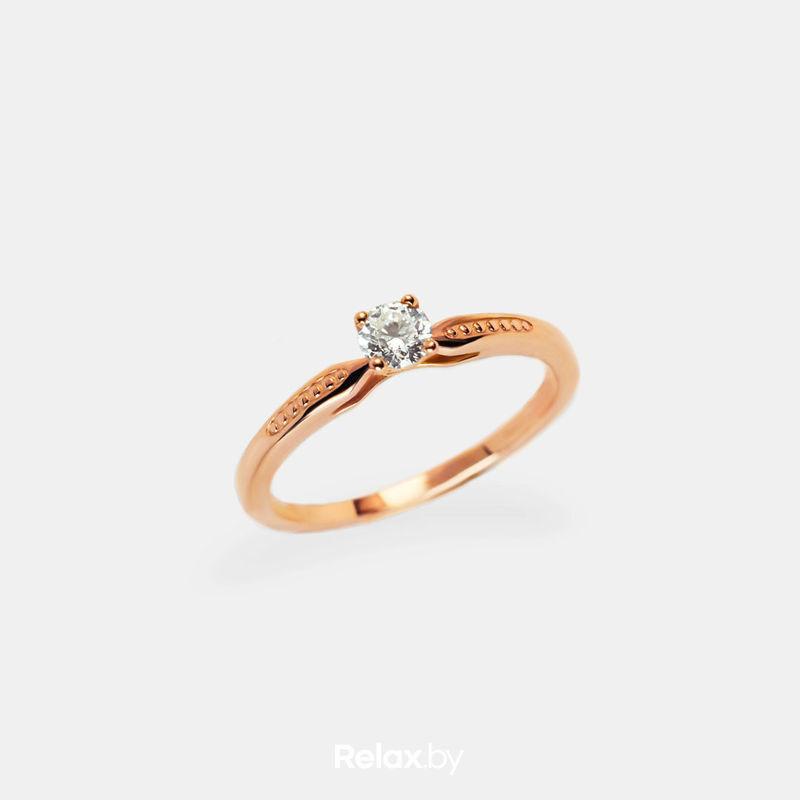 Ювелирный салон Белорусские Бриллианты Кольцо из золота со вставкой бриллиант синт. 21010008 - фото 1