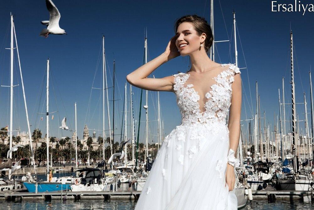 Свадебное платье напрокат Bonjour Платье свадебное «Ersaliya» из коллекции LA POESIE 2017 - фото 2