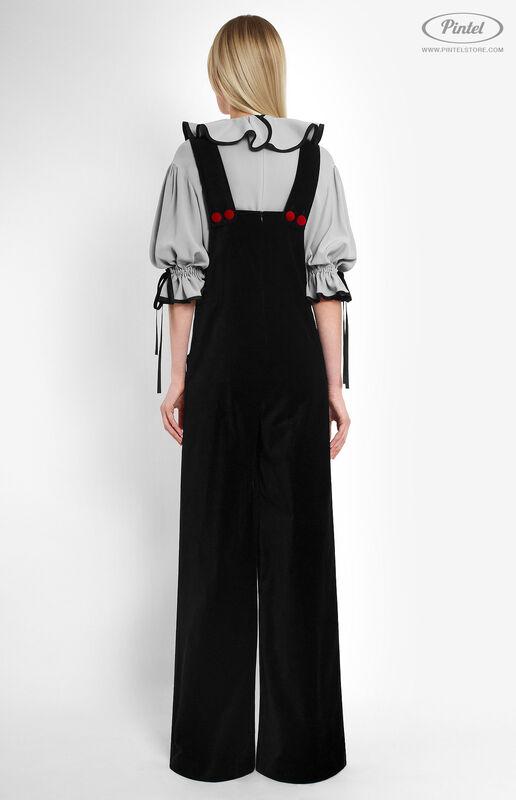 Костюм женский Pintel™ Костюм из блузы и бархатного комбинезона Refka - фото 3