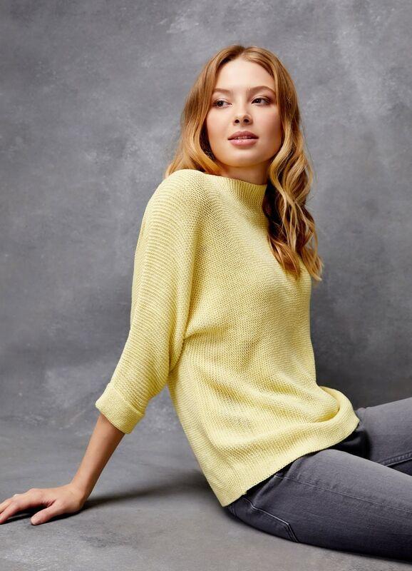 Кофта, блузка, футболка женская O'stin Джемпер структурной вязки LK4U31-33 - фото 1