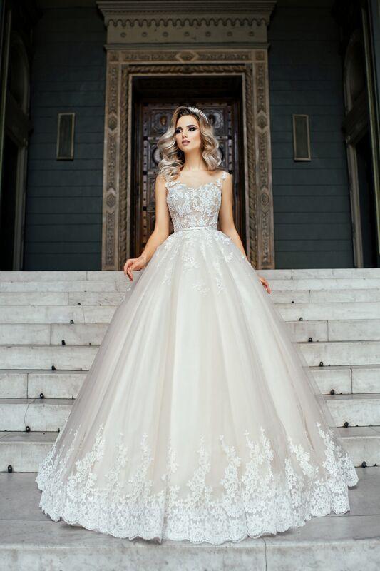 Свадебное платье напрокат Nicole Платье свадебное Adele - фото 1