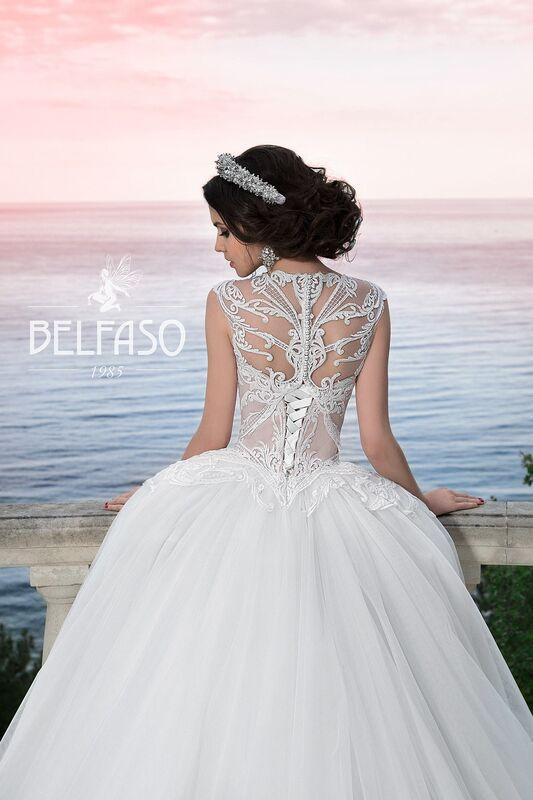 Свадебное платье напрокат Belfaso Платье свадебное Evanjelin - фото 2