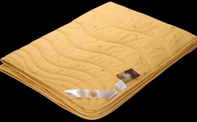 Подарок Голдтекс Верблюжье одеяло «Золотой верблюд» в сатине Люкс 1057 - фото 1