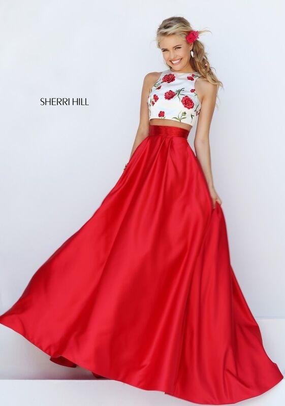Вечернее платье Sherri Hill Кроп-топ 50232 - фото 2