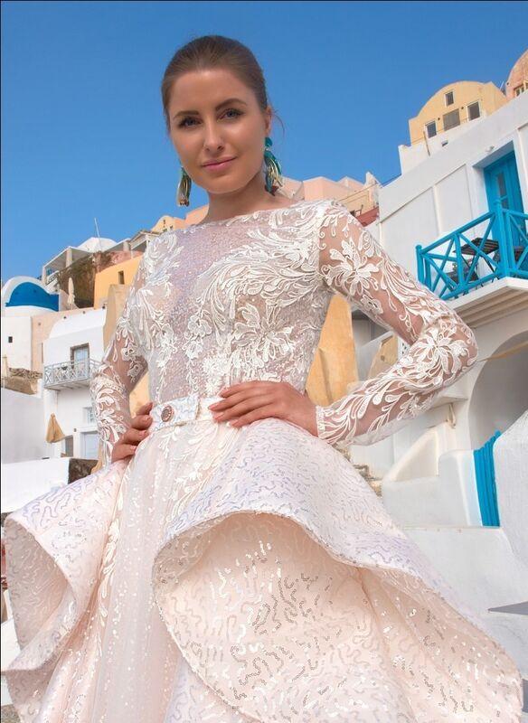 Свадебное платье напрокат Rafineza Свадебное платье Roberta со шлейфом напрокат - фото 2