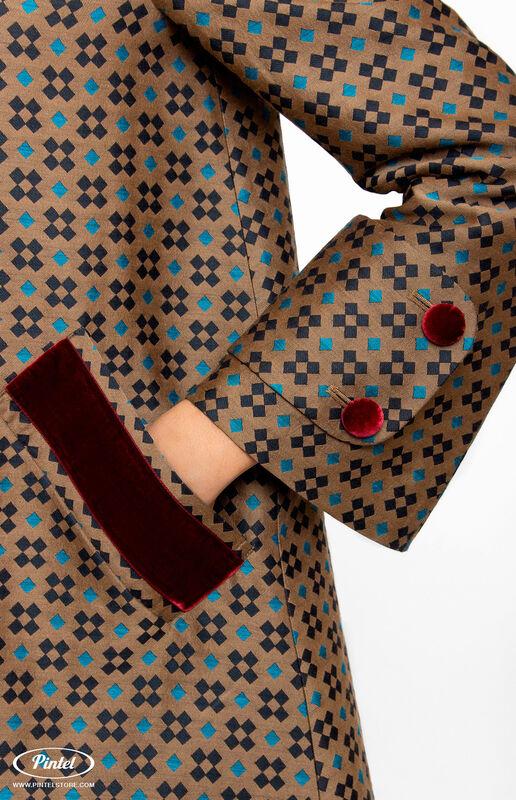 Верхняя одежда женская Pintel™ Двубортное пальто А-силуэта  Akinö - фото 2
