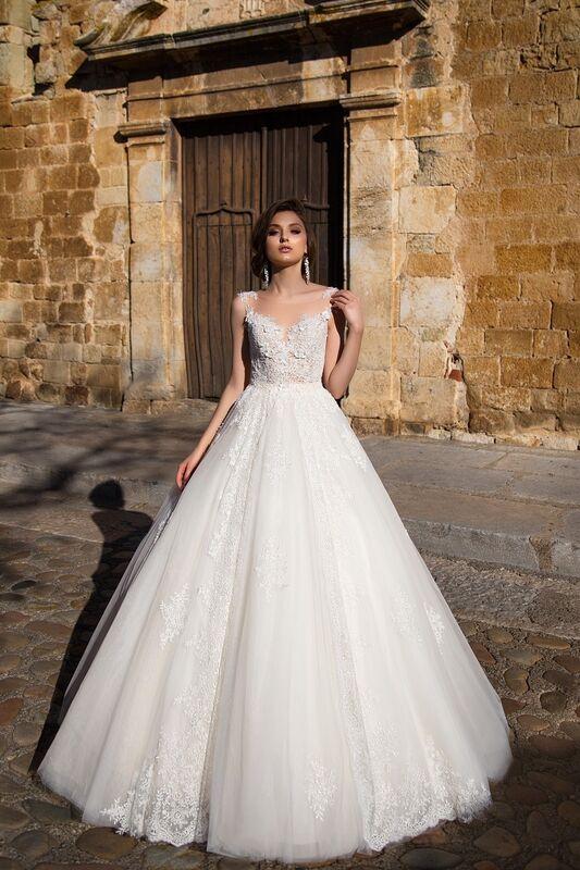 Свадебное платье напрокат Bonjour Платье свадебное «Fiorina» из коллекции LA SENSUALITE 2017 - фото 1