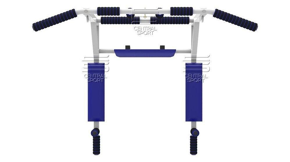 Тренажер Central Sport Турник 4в1 бел/синий - фото 1