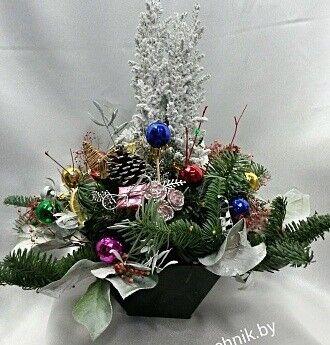 Магазин цветов Цветочник Новогодняя композиция - фото 1