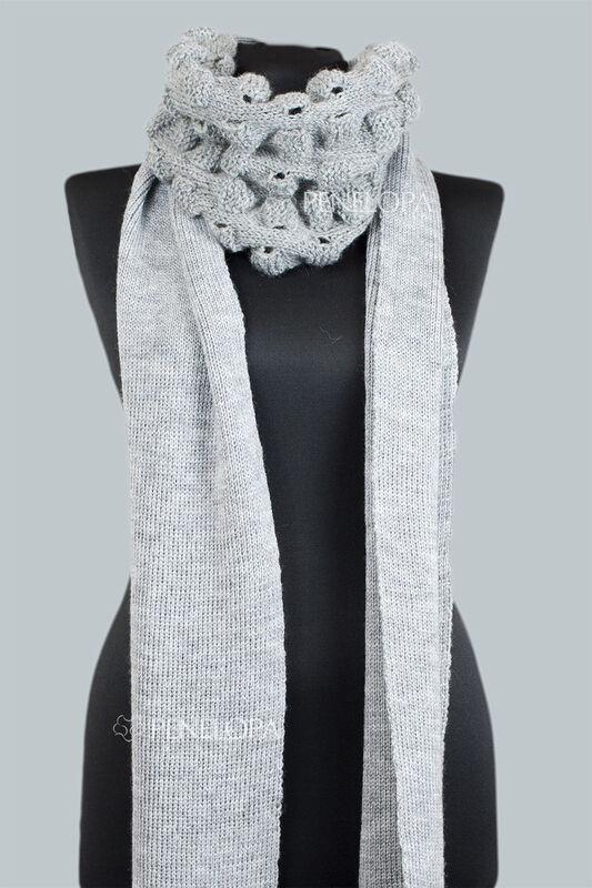 Шарф и платок PENELOPA Длинный серый шарф M16 - фото 4