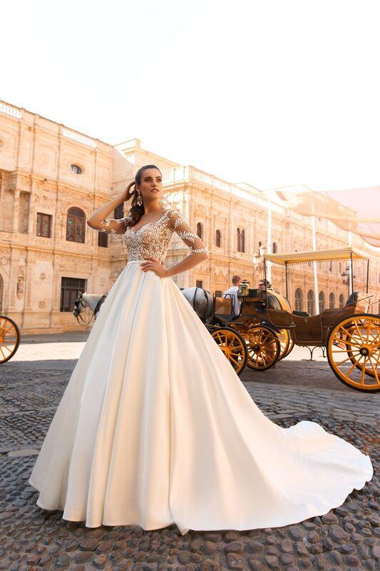 Свадебное платье напрокат Crystal Свадебное платье Jaimi - фото 1