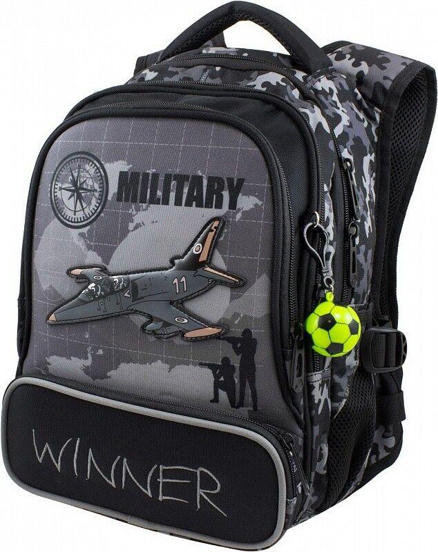 Магазин сумок Winner Рюкзак школьный черный 921 - фото 1