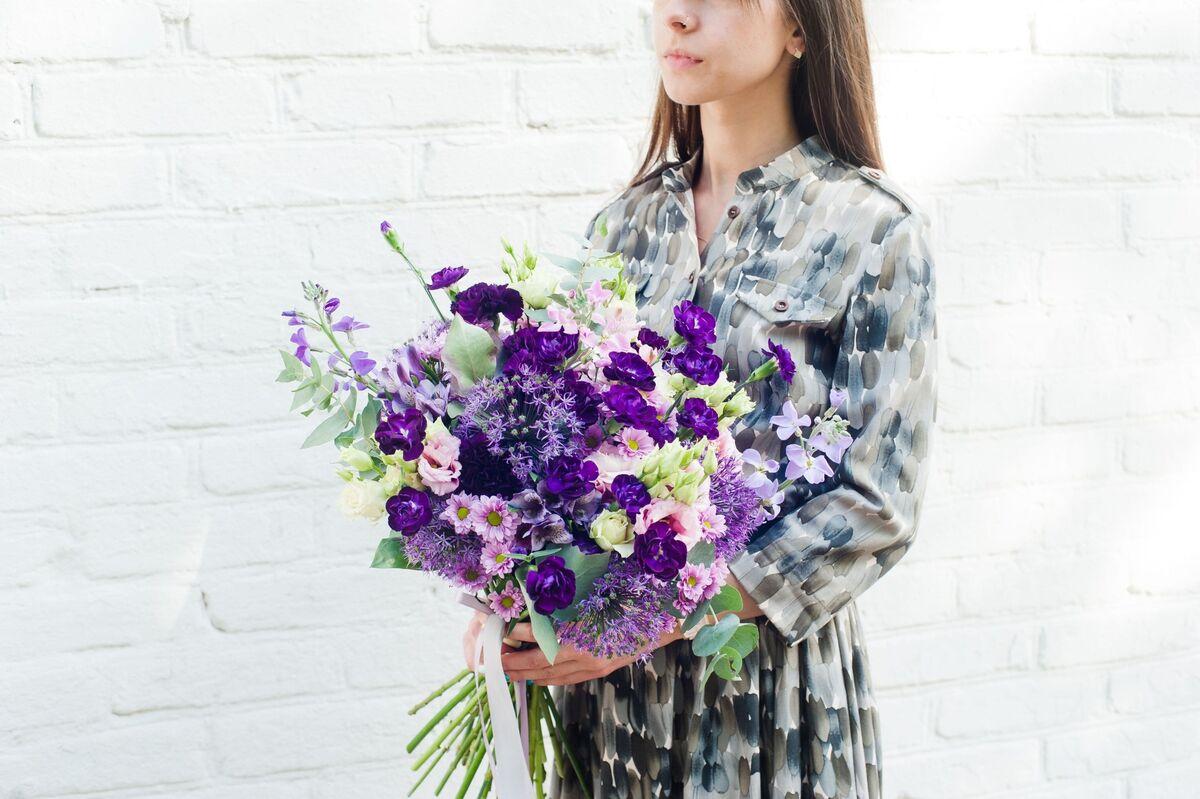 Магазин цветов Цветы на Киселева Букет «Лиловая рапсодия» - фото 1