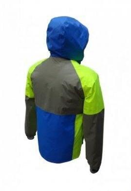 Спортивная одежда Free Flight Мужская мембранная горнолыжная куртка сине-серая - фото 2